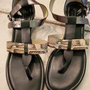Coach strap sandals size 9.5 B